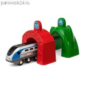 Железная дорога Smart Tech - Локомотив и 2 тоннеля (свет, звук)