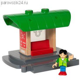 """Игровой набор BRIO для деревянной ж/д """"Железнодорожная станция"""" (звук)"""