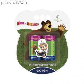 """Батарейки """"Маша и медведь"""" LR14, 2 шт."""