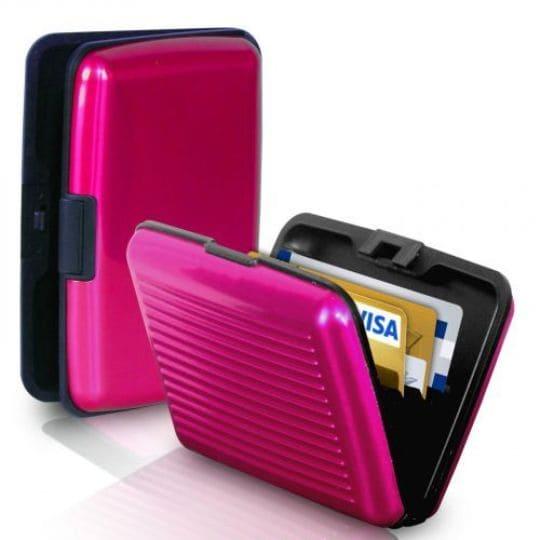 Бокс для кредитных карт Security Credit Card Wallet, розовый