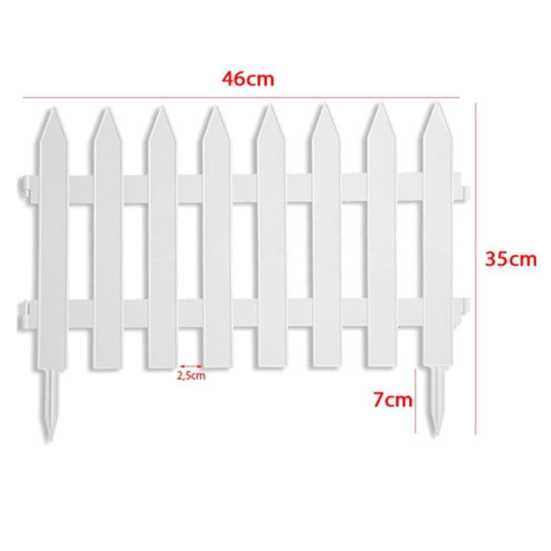 Забор декоративный № 1, 7 секций, белый
