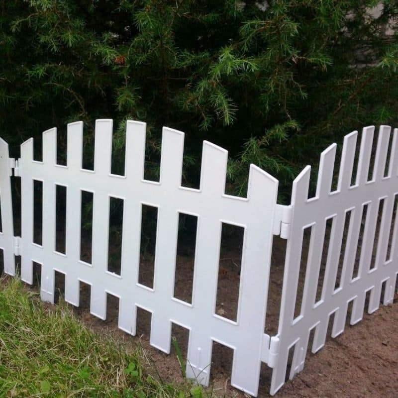 Забор декоративный № 2, 7 секций, белый