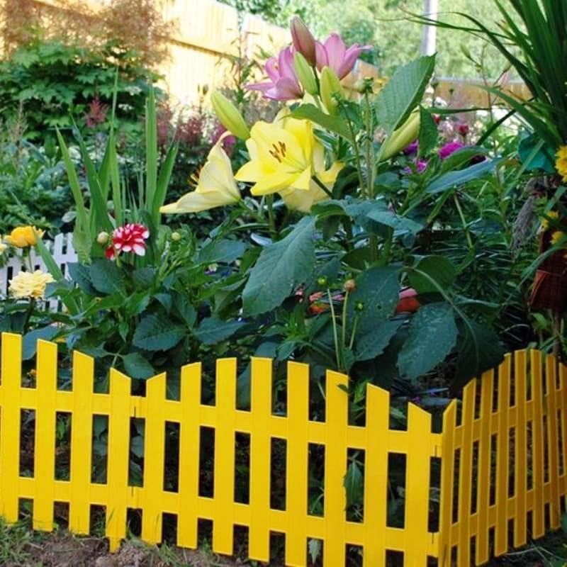 Забор декоративный № 2, 7 секций, желтый