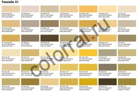 Цвета Капарол из палитры Color Fassade A1
