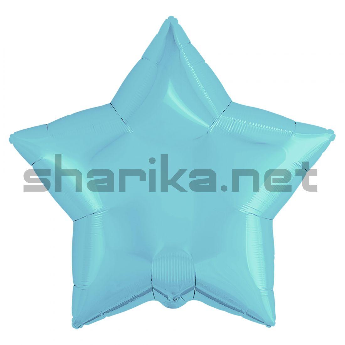 Шар (21''/53 см) Звезда, Нежно-голубой