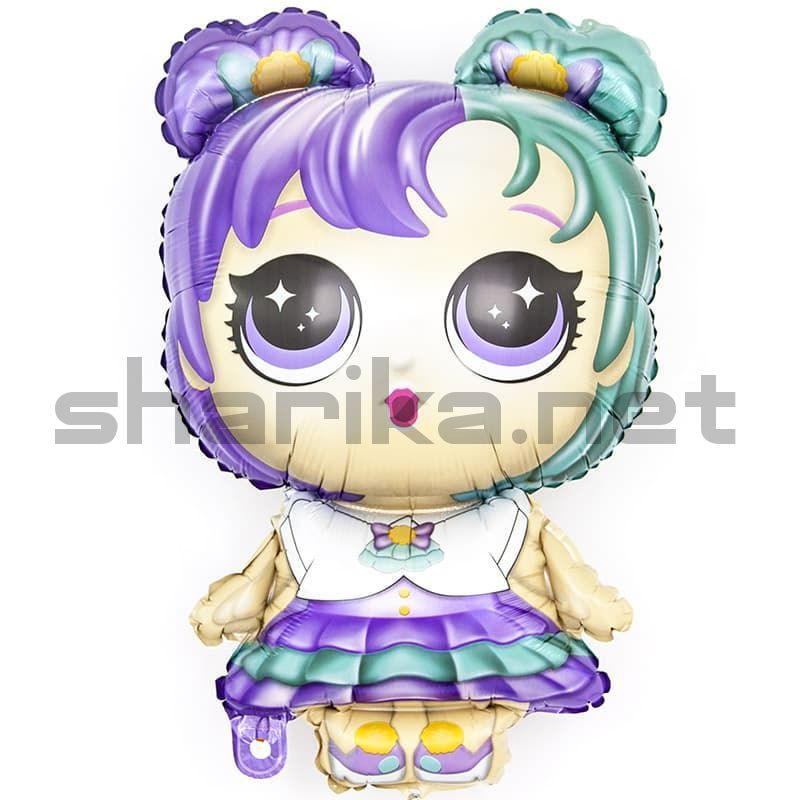 Модная кукла (разноцветные локоны)