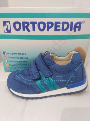 215 Ortopedia Кроссовки Детские (21-25) в голубом цвете