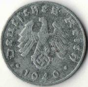 1 рейхспфенниг. 1940 год. D. Третий Рейх.