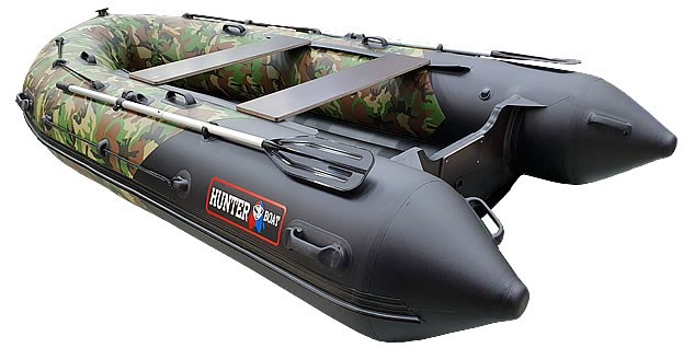 Надувная лодка Хантер 350 ПРО КМФ ХАКИ НАТО