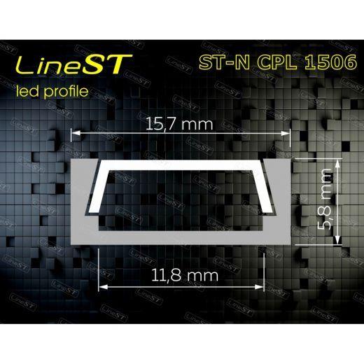 Алюминиевый накладной профиль ST-NCPL1506 (комплект)