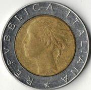 500 лир. 1987 год. Италия.