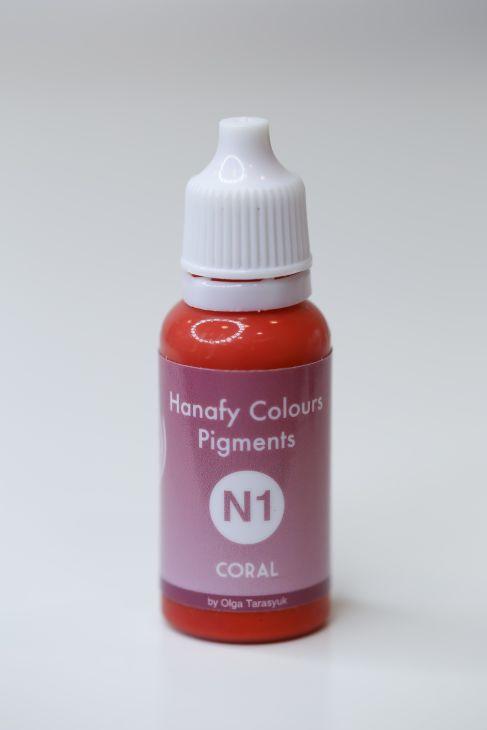 Пигменты для губ Hanafy Colours Pigments N1 Coral