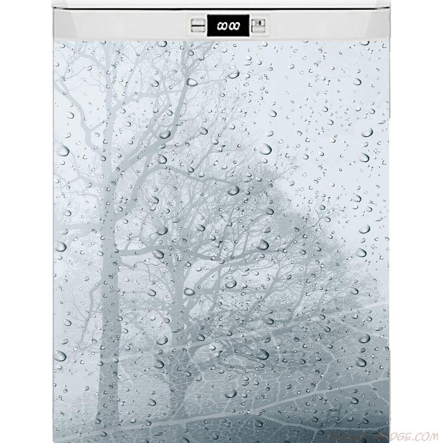 Наклейка на посудомоечную и стиральную машину - ветер и дождь