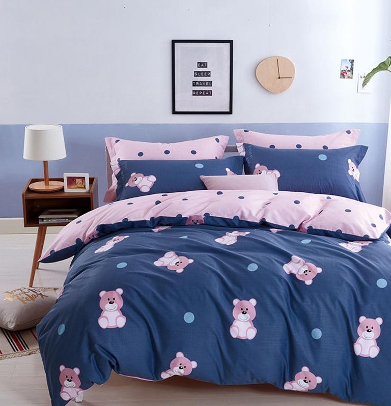 Детское постельное белье Розовые мишки