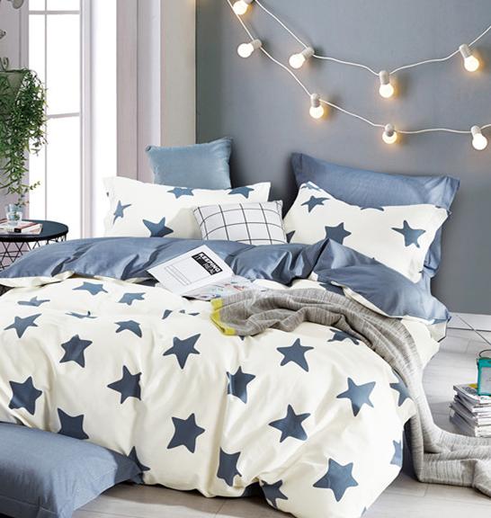 Детское постельное белье Синие звезды