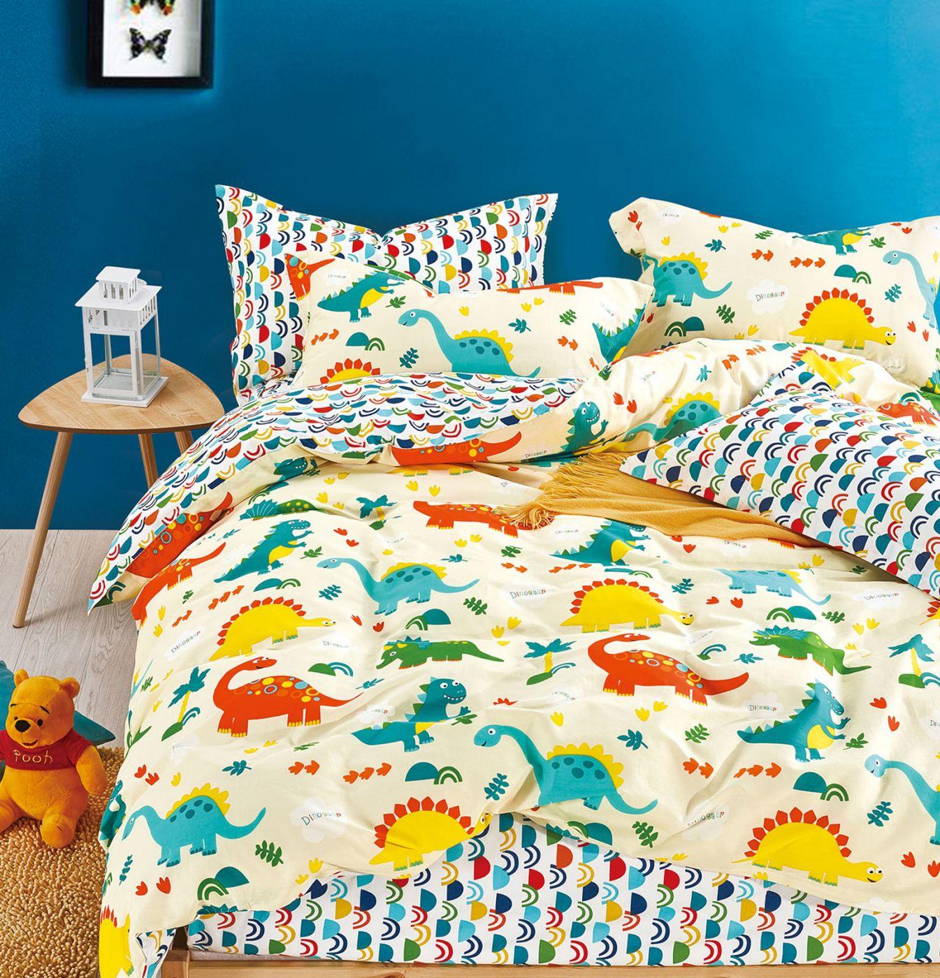Детское постельное белье Веселые динозавры