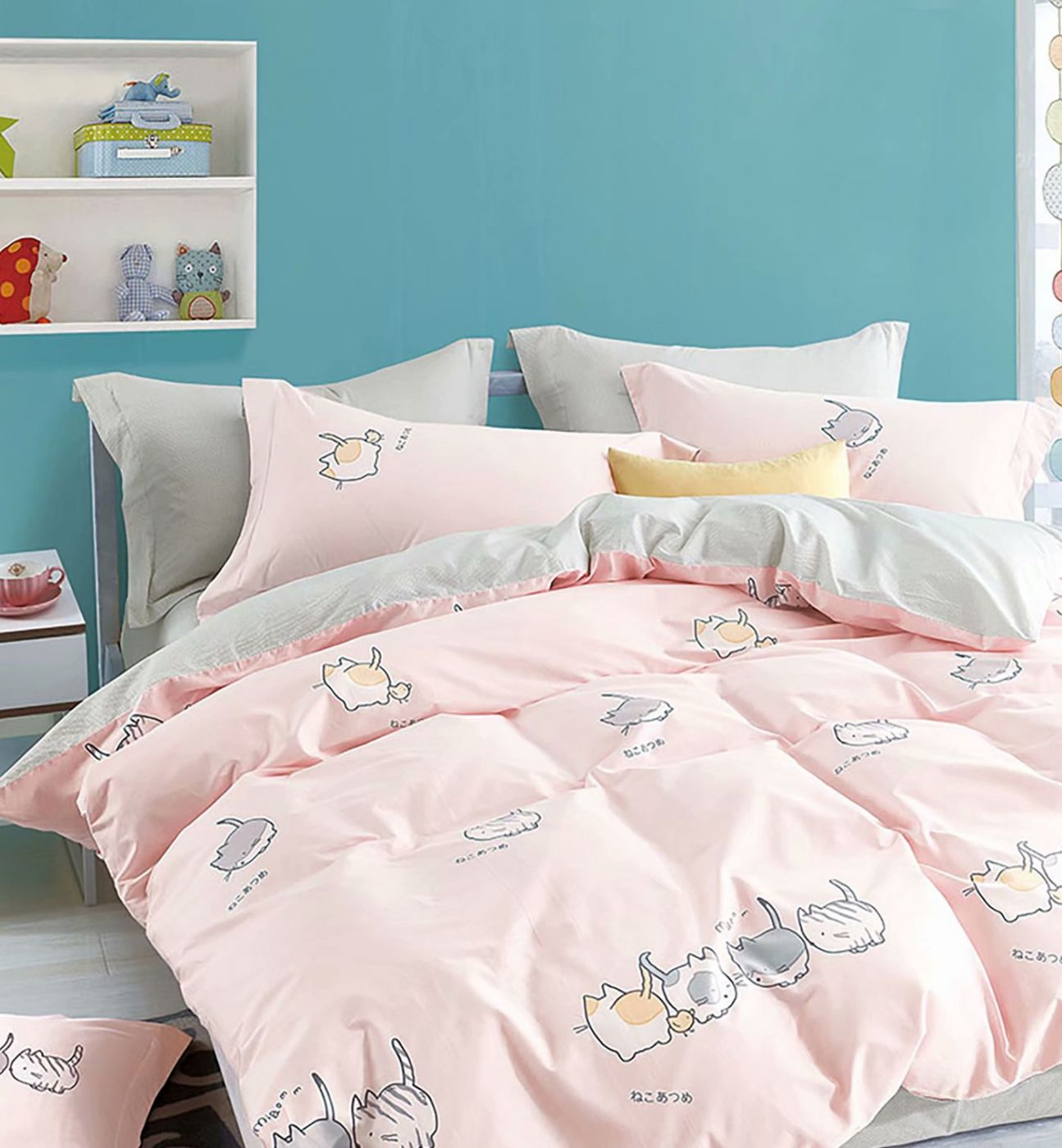 Детское постельное белье Розовые котики