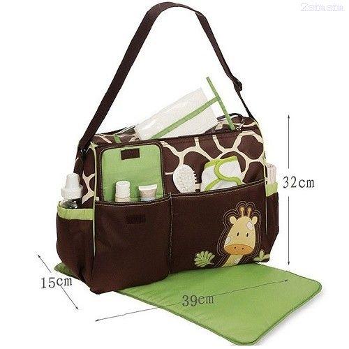 Универсальная сумка для мам с пеленкой Зверята, 38х15х32 см