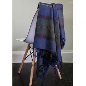 Плед 100 % стопроцентная шотландская овечья шерсть, расцветка клана МакЛауд (старинный вариант) MacLeod of Harris ANTIQUE