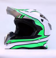 Шлем кроссовый Endurо White Green фото 2