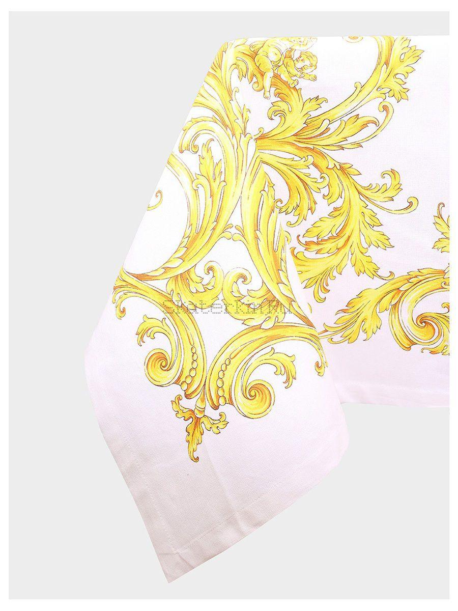 Скатерть хлопковая Золотые вензеля