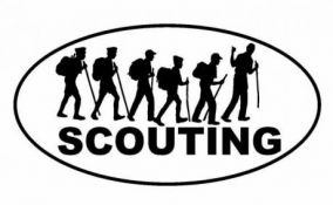 Наклейка на машину Scouting