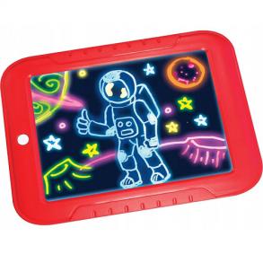 Волшебный планшет для рисования с подсветкой Magic Sketchpad (Красный)