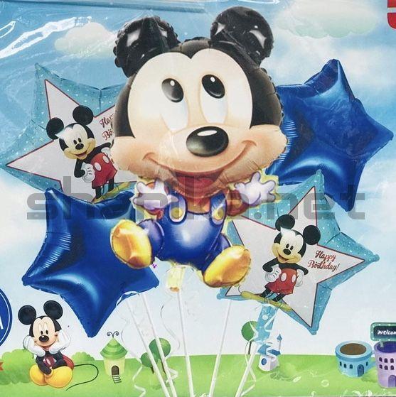 Комплект гелиевых шариков «Микки Маус»
