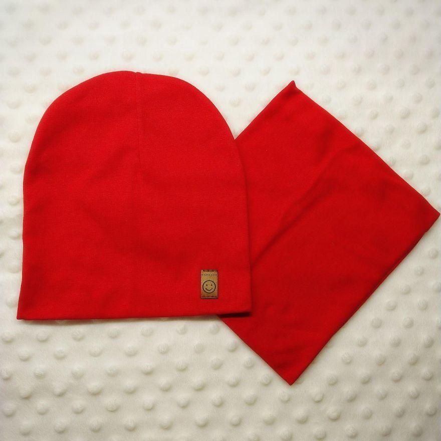 Комплект шапка со снудом для девочки