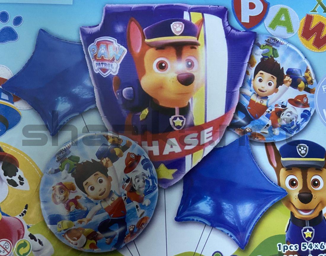 Комплект гелиевых шариков «Щенячий патруль»