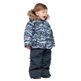 Костюм зимний для мальчика Старт (куртка на овчине и полукомбинезон)