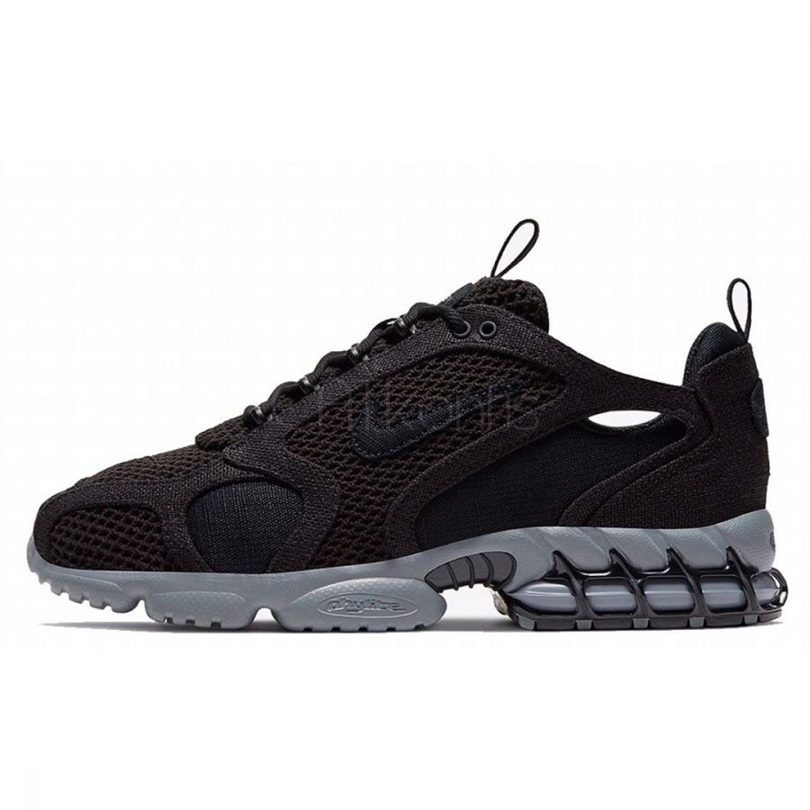 Stussy x Nike Air Zoom Spiridon Cage 2 triple black