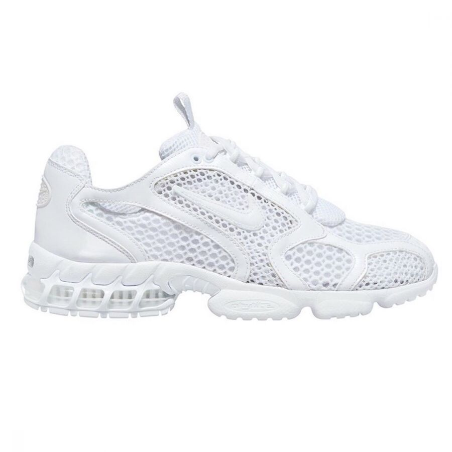 Stussy x Nike Air Zoom Spiridon Cage 2 triple white