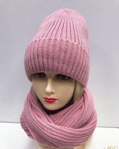 Комплект шапка+снуд с люрексом