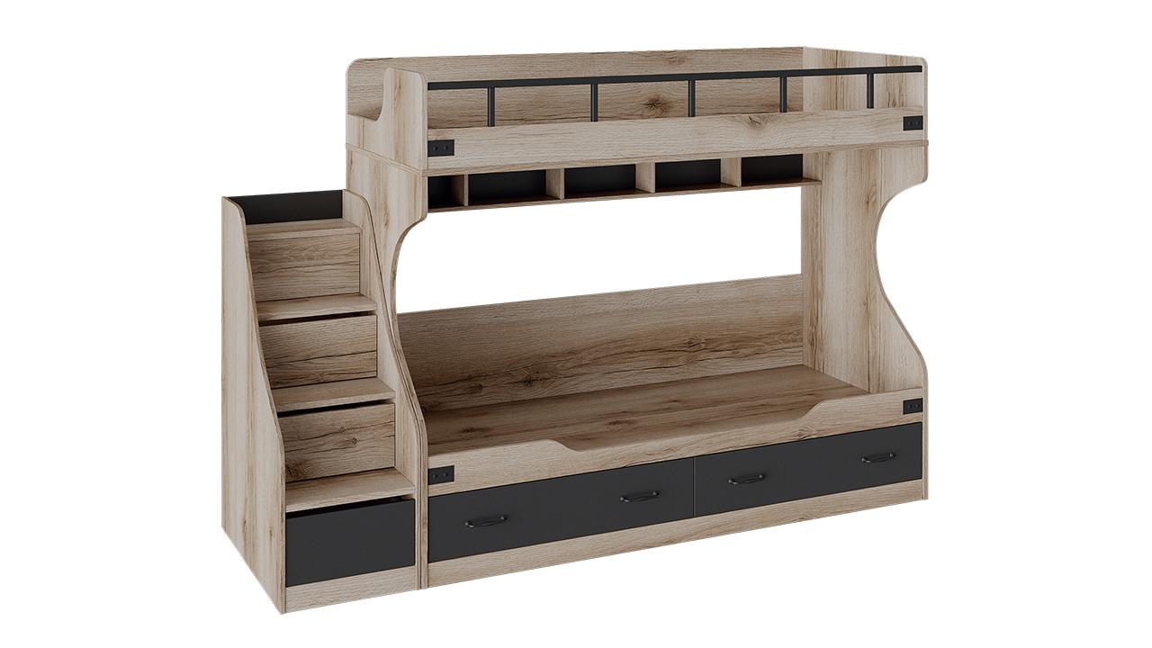 """Кровать двухъярусная с приставной лестницей """"Окланд"""""""