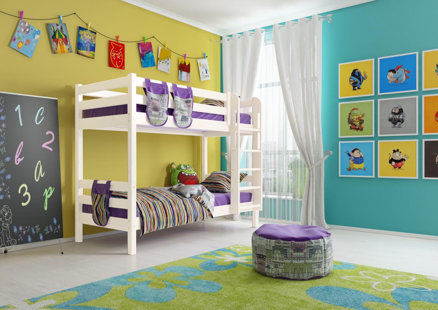 """Двухъярусная кровать из массива """"Авалон"""""""