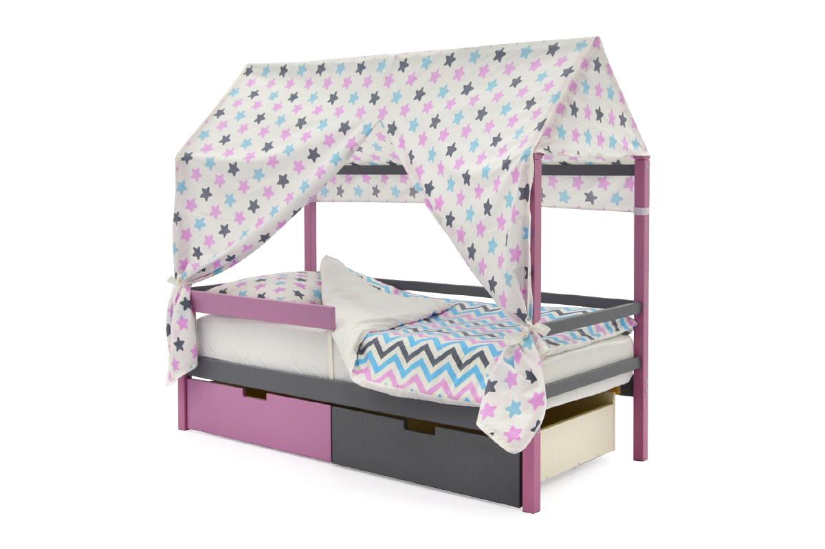 Крыша текстильная для кровати-домика Svogen звезды