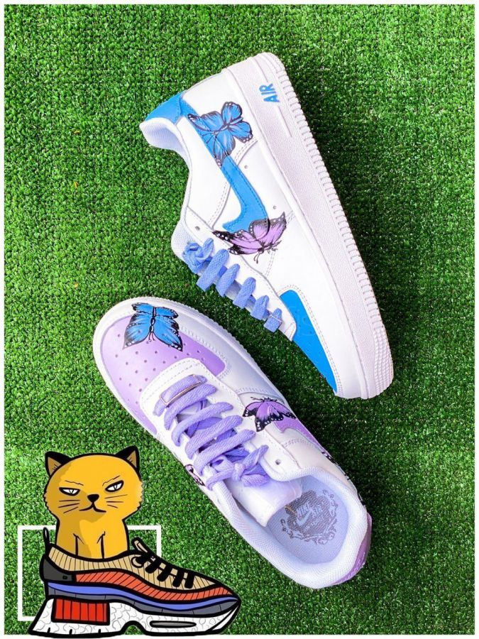 Nike Air Force 1 low Custom color butterfly
