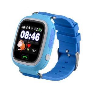 Умные детские часы с GPS Smart Baby Watch Q80 синие