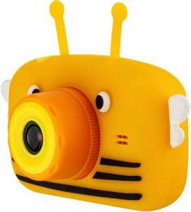 Детский цифровой фотоаппарат с селфи камерой GSMIN Fun Camera View желтый