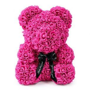 Мишка из роз, 40 см