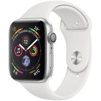 Apple Watch Series 4 GPS, Корпус: Алюминий, Ремешок: Спортивный ремешок белого цвета