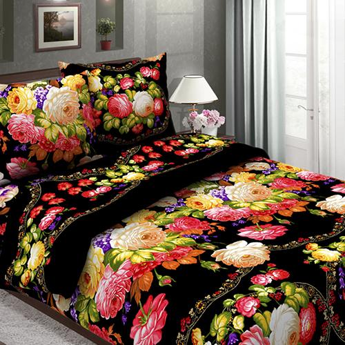 Народные мотивы (чёрный) постельное белье бязь
