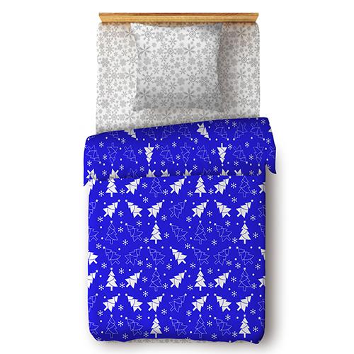 Ёлочки (синий) постельное белье поплин