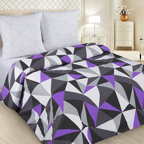 Мозаика (фиолетовый) постельное белье поплин
