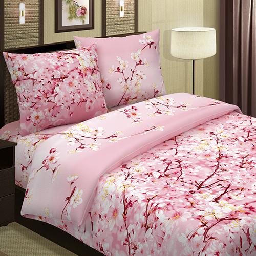 Сакура (розовый) постельное белье поплин