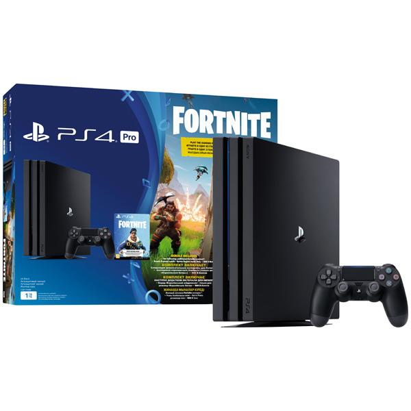 Игровая консоль  Sony Playstation 4 Pro 1TB (CUH-7108B) + игра Fortnite