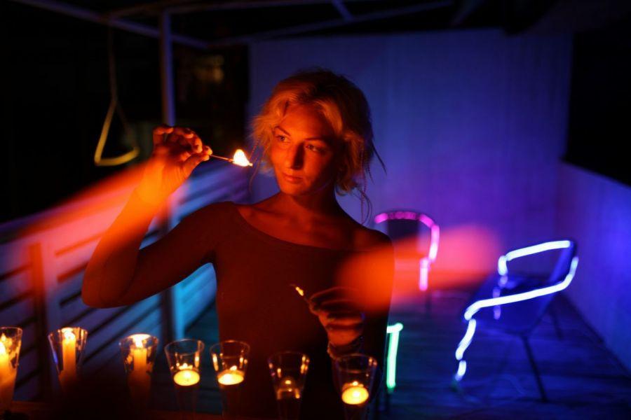 Ночной фототур на светящихся SUP