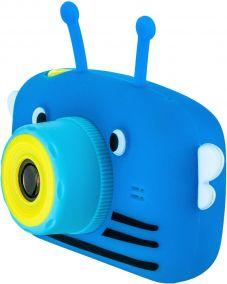 Детский цифровой фотоаппарат с селфи камерой GSMIN Fun Camera View синий