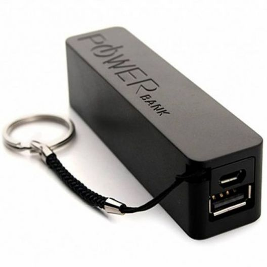 iizw Стильное мини-зарядное устройство Power Bank (ПАУЭР БАНК) A5 2600 мАч (черное) Новое, Гарантия, Доставка